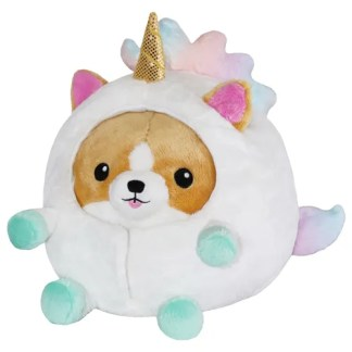 Undercover Corgi in Unicorn Costume