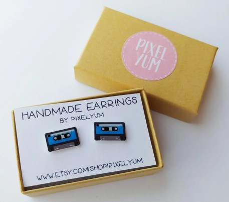 Tape Cassette Earrings