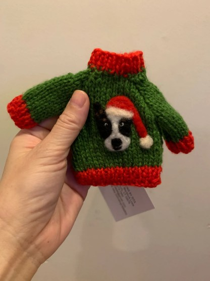 Corgi Sweater Ornament