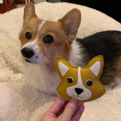 Stuffed Corgi Toy