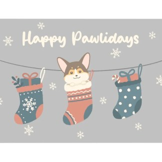 CORGI WINTER CARD