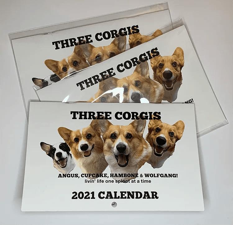 THREE CORGIS CALENDAR
