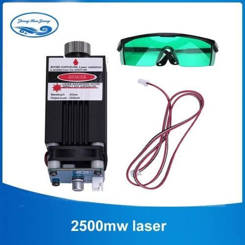 laser-2500mw 405nm con ventilador-y-lentes-grabadora