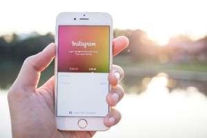Smartphone showing Instagram app