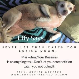 Effy Says…Keep At It!