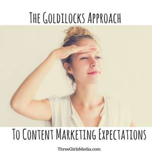 The Goldilocks Approach to Content Marketing Expectations