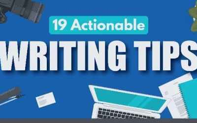 Infographic: 19 Actionable Writing Tips