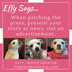 Effy Says Press Pitching