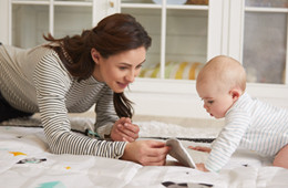 The mat helps promote the baby's language and communication skills