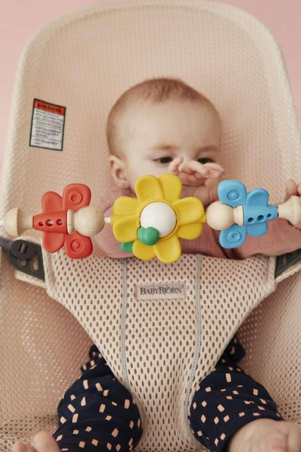 Multicolour toybar for BabyBjorn bouncers