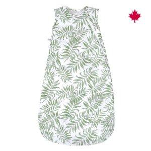 Perlimpinpin Woven Cotton Sleep Bag 2 tog Tropical Green