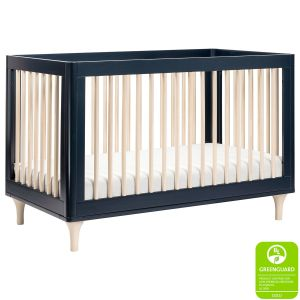 Babyletto Lolly Crib Navy Washed Natural