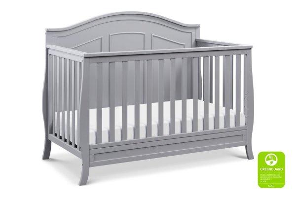 Emmett 4-in-1 Convertible Crib - Grey