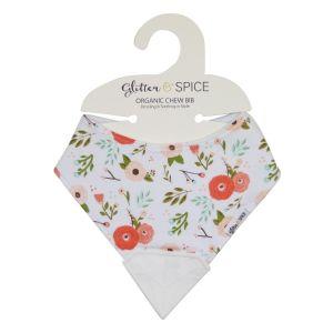 Glitter & Spice Chew Bib - Poppies