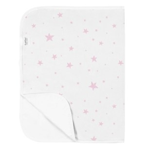 Kushies Waterproof Flat Change Pad - Pink Scribble Stars