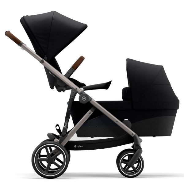Configured with seat above and cot below