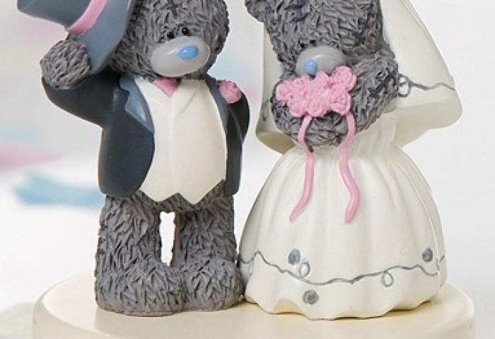 Me To You Wedding Cake Topper Pink Bouquet Threelittlebearscouk