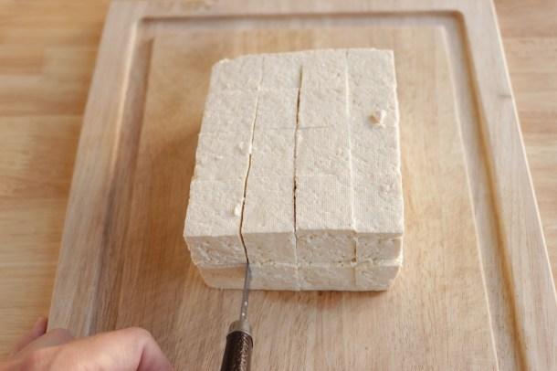 how to slice tofu