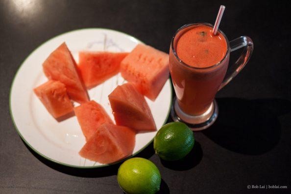 Watermelon Basil Juice