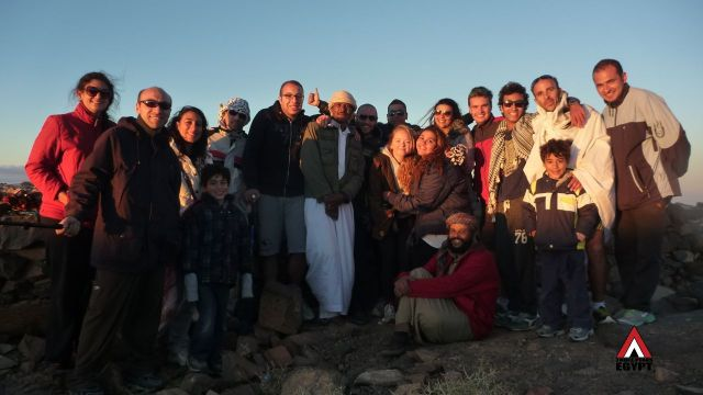 Bedouin guide & walkers, Three Peaks Egypt, Ben Hoffler
