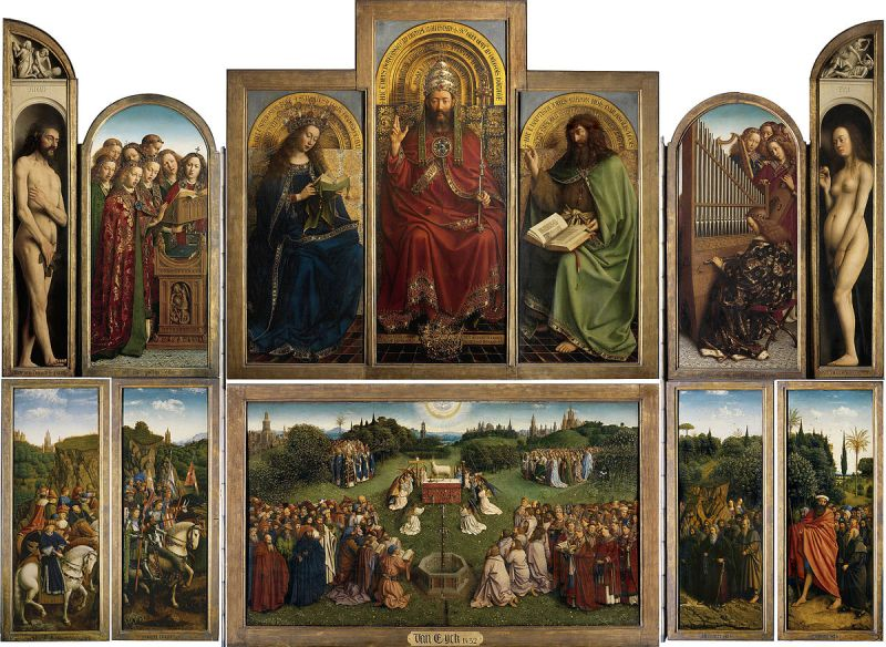 Ghent Altarpiece, by van Eyck brothers (between circa 1430 and circa 1432)