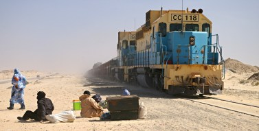 SNIM ore train Nouadhibou