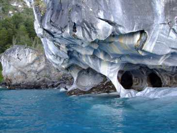 Cave carved out of marble