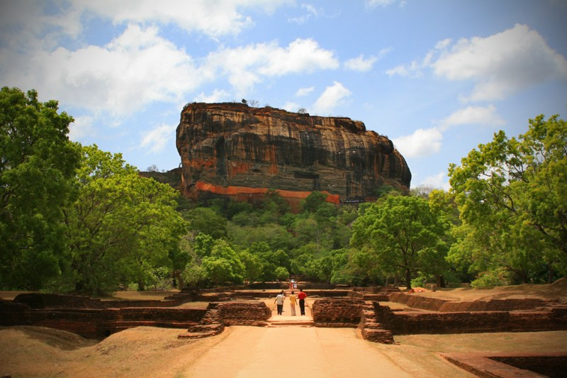 Sigiriya Rock and surrounding gardens, Sri Lanka