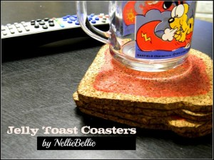jelly toast coasters