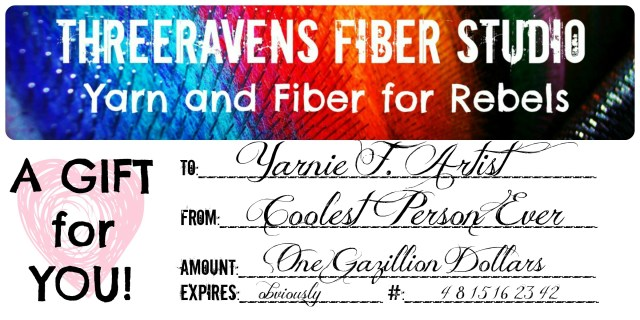 three ravens gift certificate