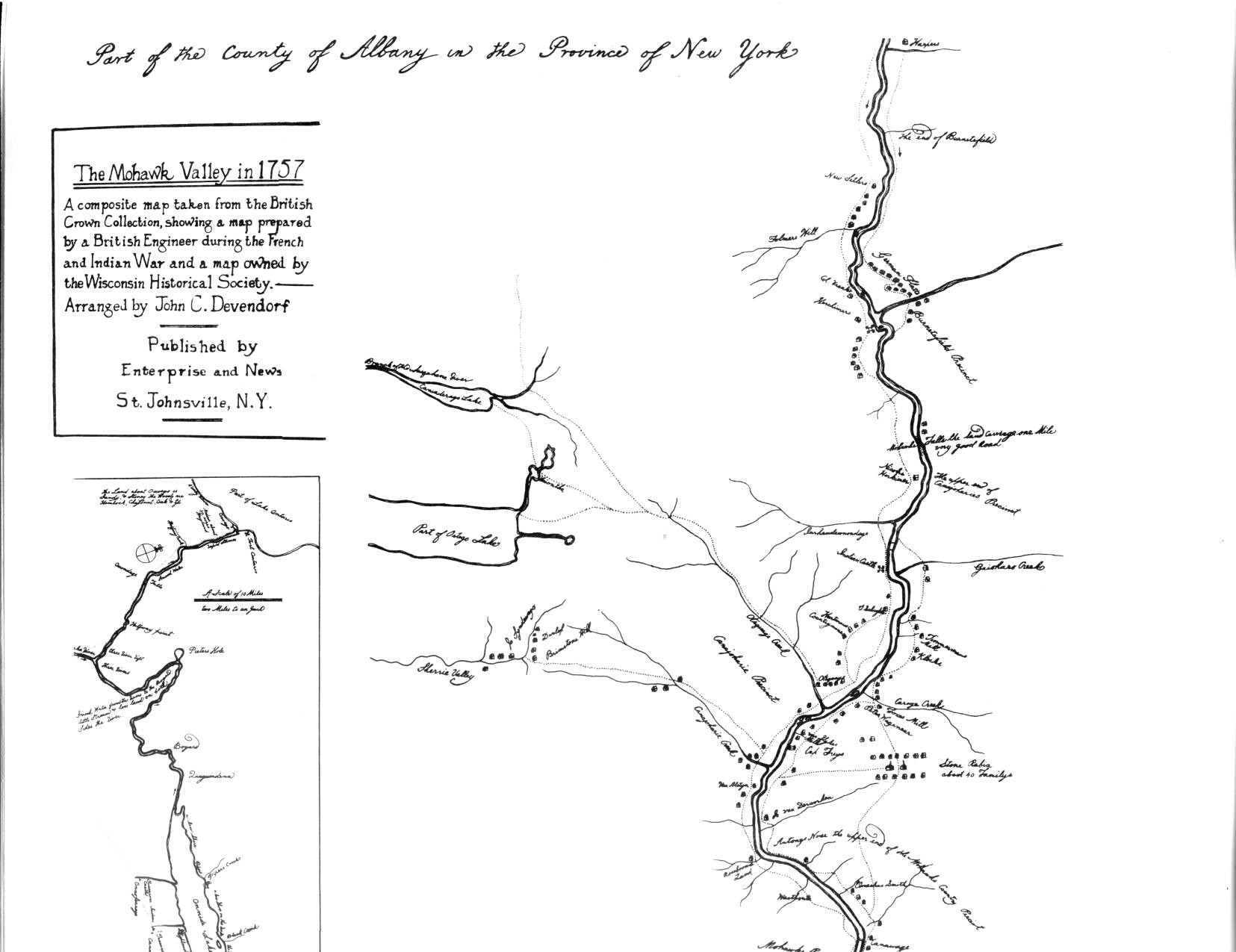 Map Of The Mohawk Valley
