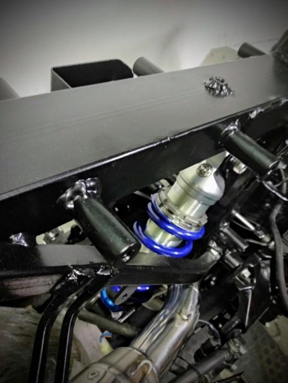 Modificación del chasis de la Honda CB 600 Hornet