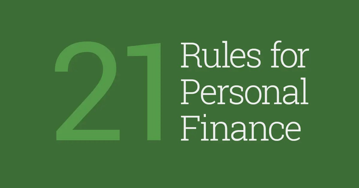 21 Rules For Personal Finance Tips And Tricks Three
