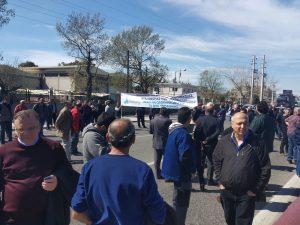 Ασπρόπυργος: Ολοκληρώθηκε η συγκέντρωση διαμαρτυρίας για την απαγόρεση διέλευσης Φορτηγών