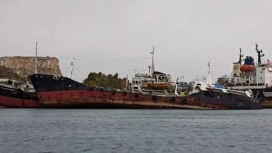 """Μισοβυθίστηκε το κατασχεμένο πλοίο """"Noor One"""" στην Ελευσίνα"""