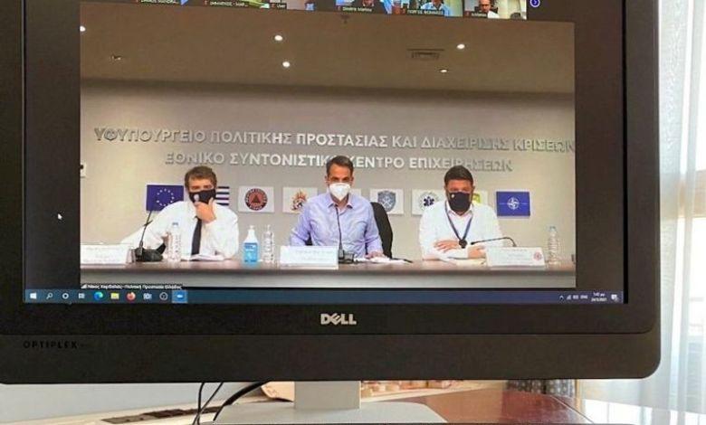 Σε ευρεία κυβερνητική σύσκεψη για την αντιπυρική περίοδο συμμετείχε ο Δήμος Μάνδρας