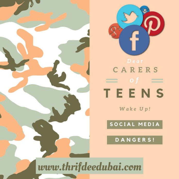 Social Media Dangers Teens Kids Parents Carers Safety Online Internet ThrifDeeDubai