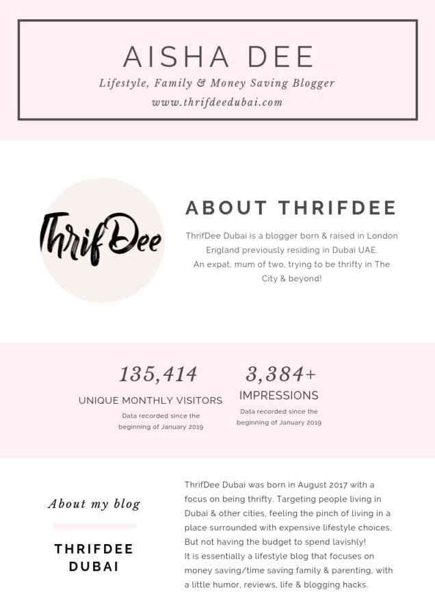 ThrifDeeDubai Blogger Collaborate with me