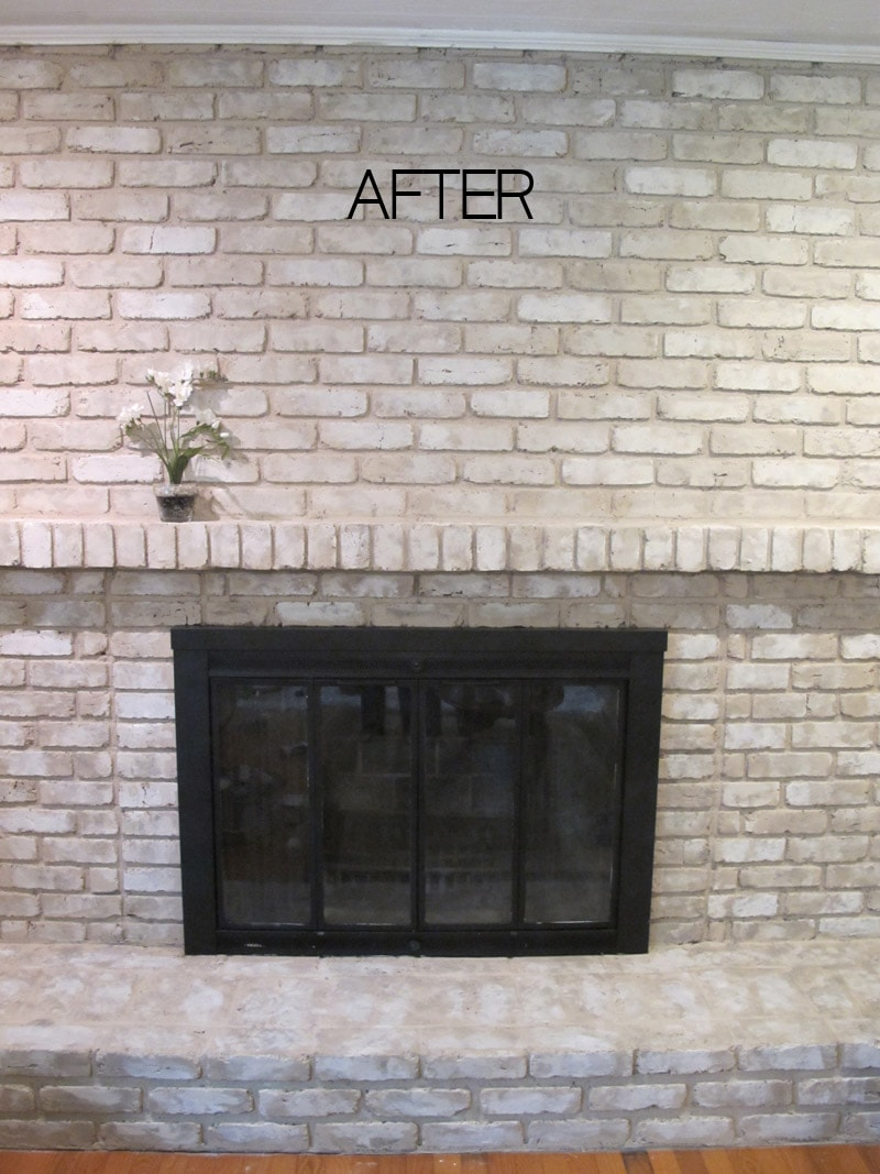 TUTORIAL: How to Paint a Brick Fireplace on Brick Painting Ideas  id=47002
