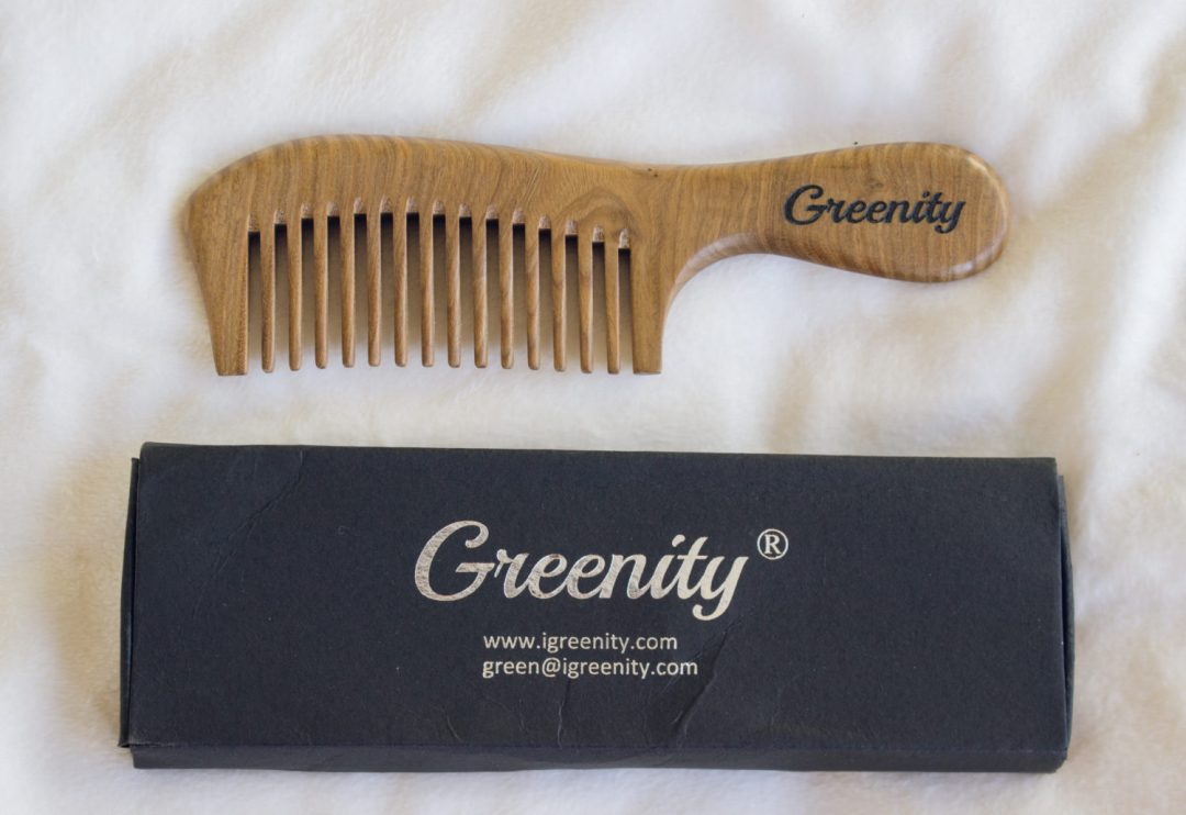 sustainable wooden comb