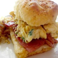 Cookmore – Herb Scrambled Eggs & Country Ham Biscuits