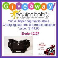 Equip Baby Diaper Bag Giveaway ends 12/26