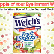 Welch's Fruit Snacks Apple of Your Eye Instant Win Game ends 3/12