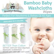 Brooklyn Bamboo Baby Products Most Softest, Most Absorbent Fabric