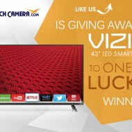 Enter for a Chance to win a 43″ Vizio LED Smart HDTV