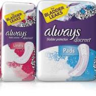 Free Always Underwear or Incontinence Liner and Pad Multi-Pack Sample