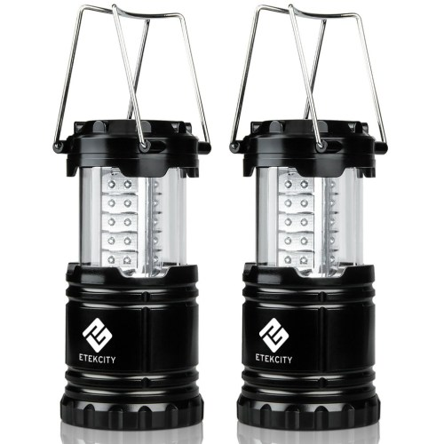 2 Pack Portable Collapsible Outdoor LED Camping Lantern Flashlights SAVE