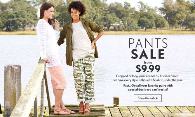 Women's Pants on Sale $9.99 Plus Get 40% OFF New Customers