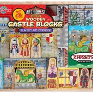50% OFF – T.S. Shure Archiquest Wooden Castle Blocks Playset and Storybook Building Kit
