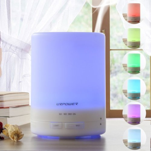 Aroma Essential Oil Diffuser, Ultrasonic Air Humidifier with AUTO Shut Off